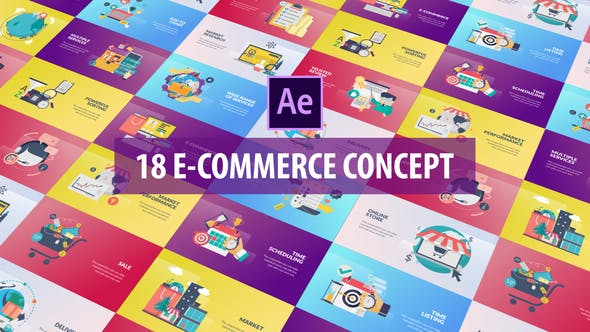Thumbnail for E-Commerce Concept - Flat Animation
