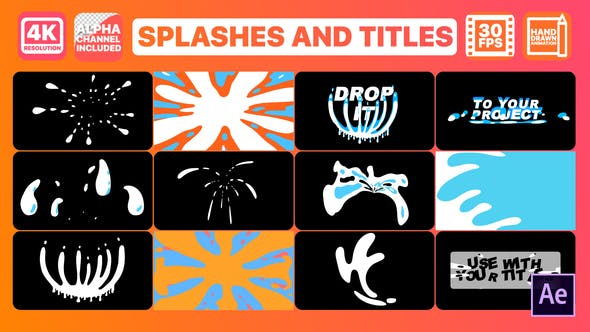 Thumbnail for Splash And Titles | After Effects