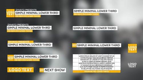 Simple Minimal Lower Thirds
