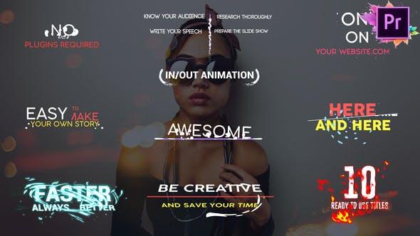 Thumbnail for Titres de formes | Premiere Pro MOGRT