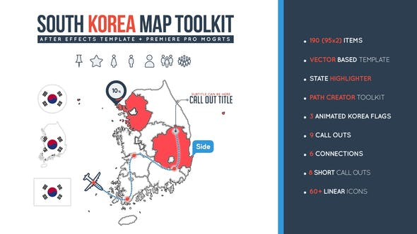 Thumbnail for South Korea Map Toolkit