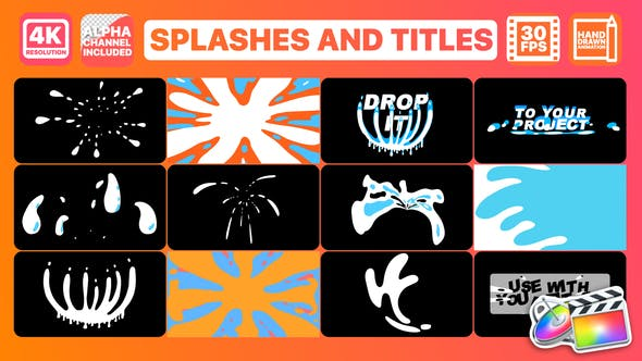Thumbnail for Splashes And Titles | FCPX
