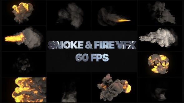 Thumbnail for Elementos VFX de humo y fuego   Premiere Pro MOGRT