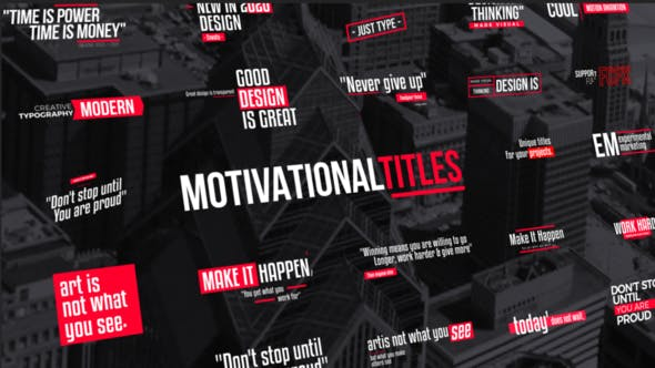 Thumbnail for Titles Motivational | FCPX & Apple Motion