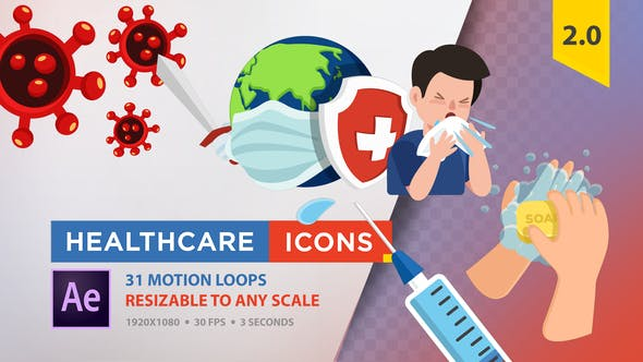 Thumbnail for Healthcare Icons (Coronavirus)