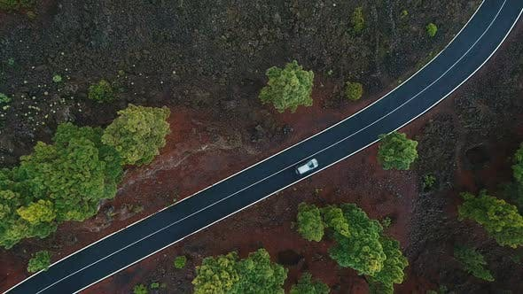 Thumbnail for Car Driving On Country Road Close Up