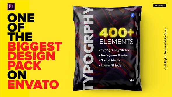 Thumbnail for Typography Design Pack -  for Premiere Pro | Essential Graphics