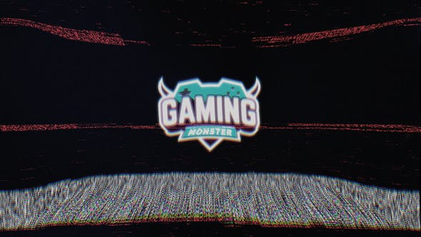 Old TV Glitch Logo
