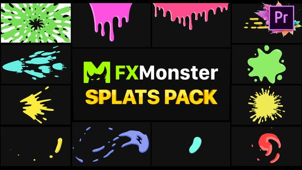 Thumbnail for Splats Pack | Premiere Pro MOGRT