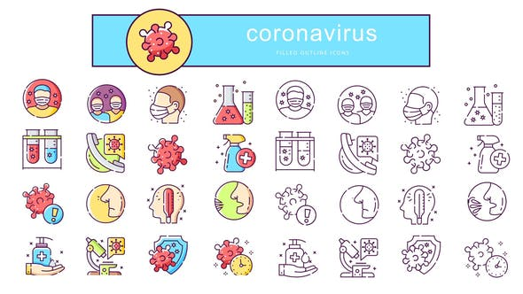 Thumbnail for Coronavirus - Animated Icons