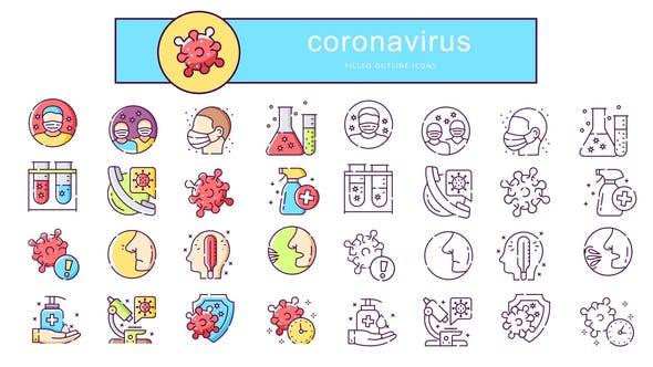 Coronavirus - Animated Icons