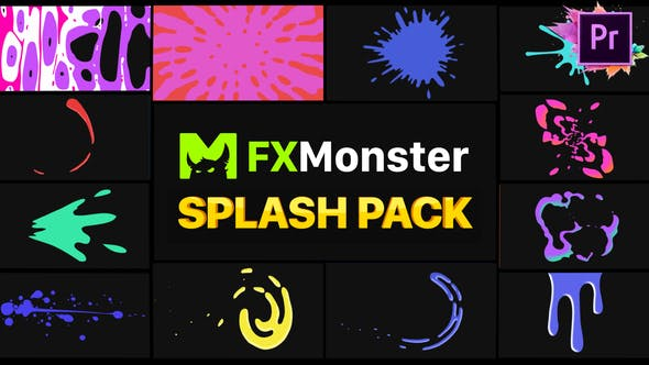 Thumbnail for Splashes Pack | Premiere Pro MOGRT