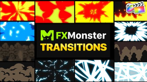 Cartoon Action Transitions   FCPX
