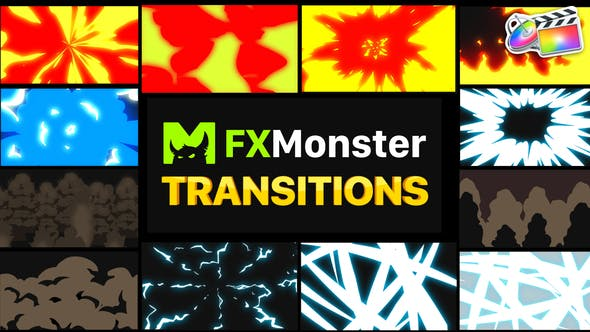 Thumbnail for Transiciones de acción de dibujos animados | FCPX