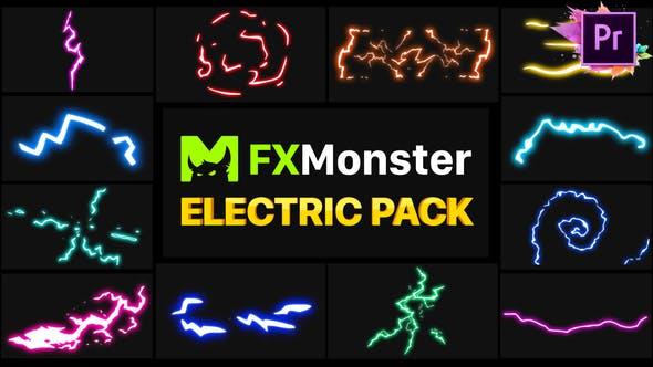 Electricity Elements   Premiere Pro MOGRT
