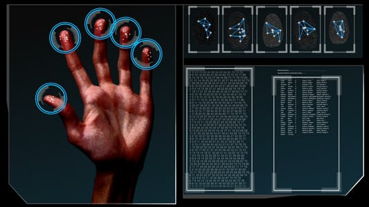 Thumbnail for HD Fingerprint Scan Identification Interface