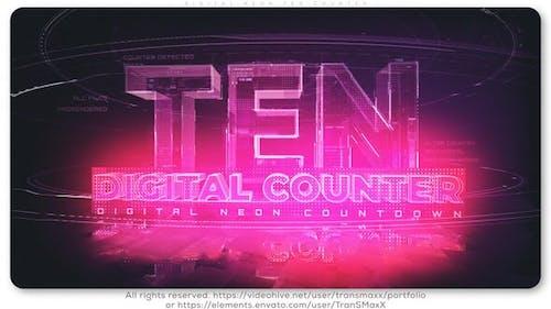 Digital Neon TEN Counter
