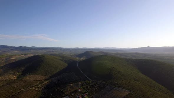 Thumbnail for Aerial Nature Scene of Green Hills and Farmlands, Greece