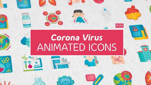Icones de virus Corona