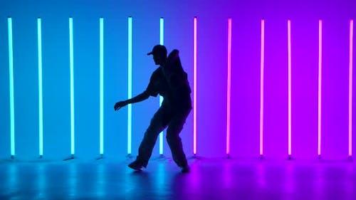 Hip Hop Dancer Performing Freestyle Dance Moves
