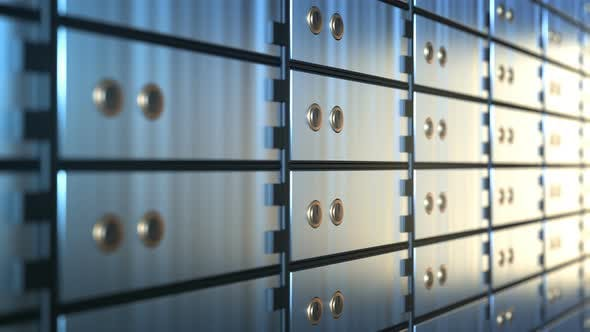 Cover Image for Safe Deposit Boxes in a Bank Vault Room
