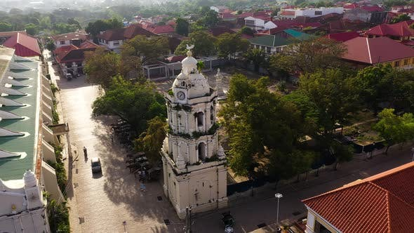 St Paul Cathedral in Vigan City, Philippines. Vigan Cathedral's Spanish Colonial Bell Tower