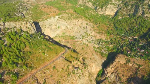 Aerial View on Mountain Road Near Oludeniz Fethiye Turkey