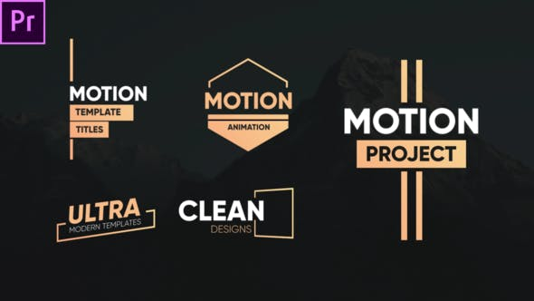 Thumbnail for Clean Motion Titres-Premiere Pro