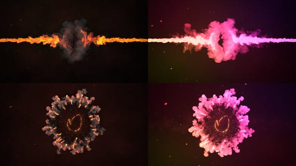 Fire And Colorful Logo   FCPX
