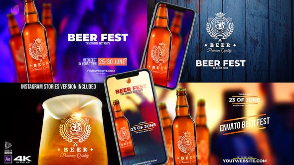Thumbnail for Beer Fest & Beer Mock-up Pack v2.2