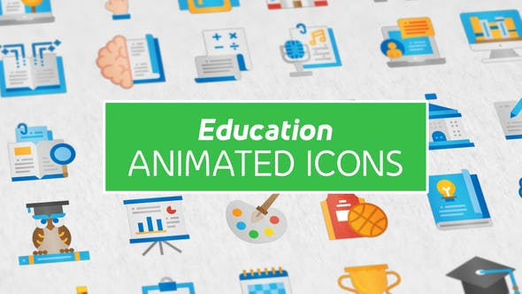 Thumbnail for Education Modern Flat Animated Icons