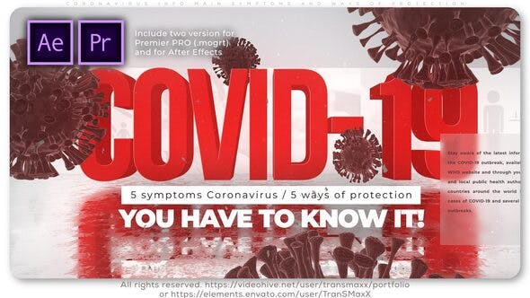 Thumbnail for Coronavirus Info Main Symptoms and Ways of Protection