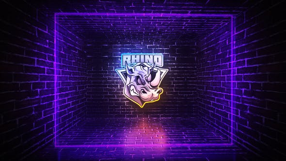 Thumbnail for Grunge Neon Logo