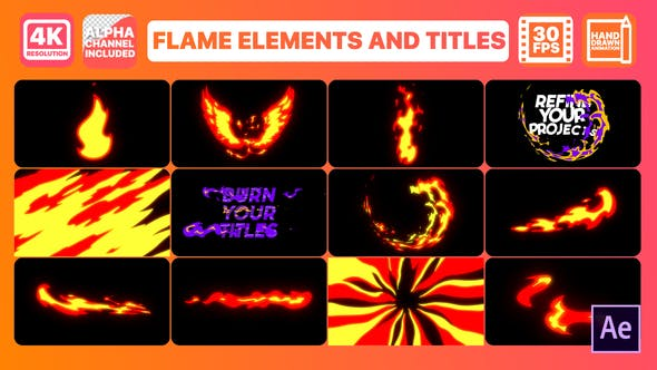 Thumbnail for Flame And Titles | After Effects