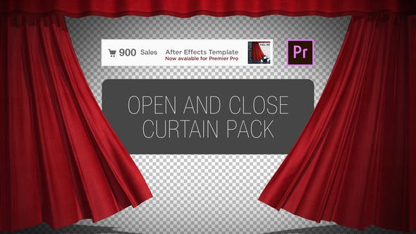 Thumbnail for Curtain Open and Close Pack Premiere