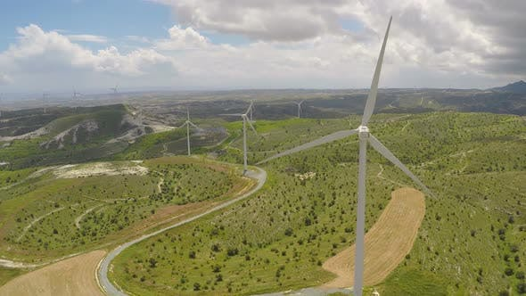 Thumbnail for Huge Blades Rotating in Wind for Alternative Power Generation, Renewable Energy