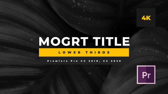 Thumbnail for Minimal Mogrt Lower Thirds
