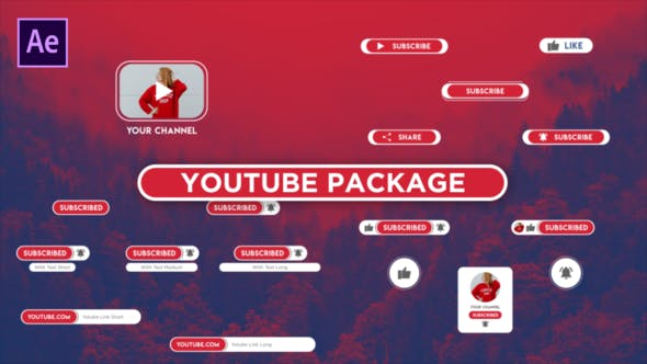 Cover Image for Ouvrir Youtube Package Bouton S'abonner