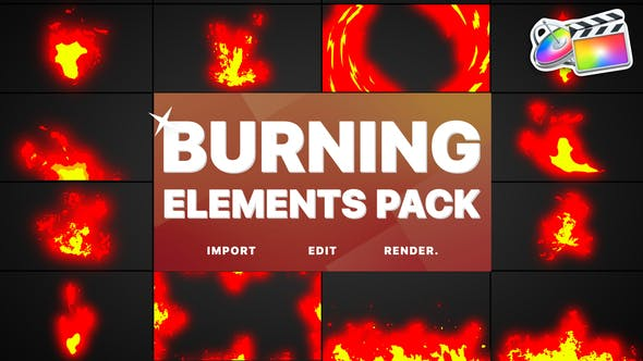Thumbnail for Burning Elements | FCPX