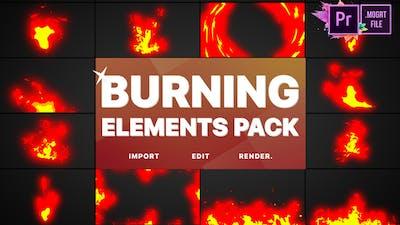 Burning Elements | Premiere Pro MOGRT