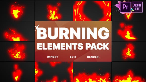 Thumbnail for Burning Elements | Premiere Pro MOGRT