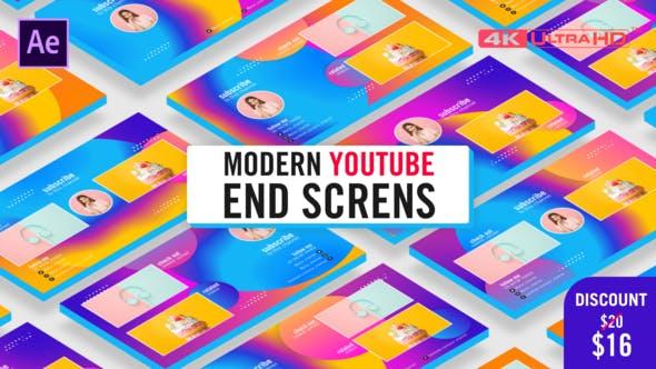 Modern Youtube End Screens