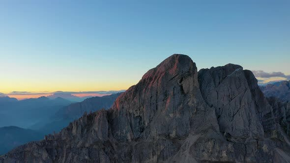 Thumbnail for Sunrise in the Province of Bolzano Dolomites Bird's-eye View of Mountains and Valleys