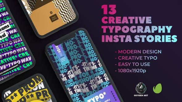 13 Creative Typography Instagram Stories