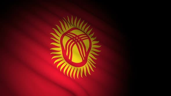 Thumbnail for Kyrgyzstan Flag Blowing in Wind