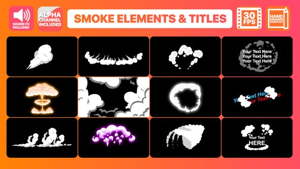 Thumbnail for 2DFX Smoke Elements And Titles | FCPX