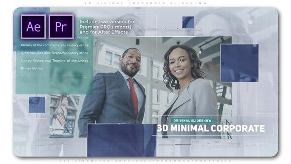 Thumbnail for 3D Minimal Corporate Slideshow