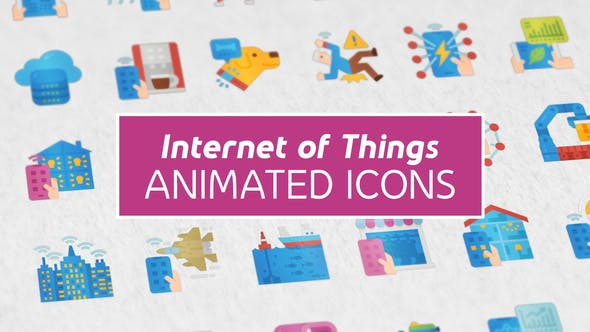 Thumbnail for Internet of Things Modern Flat Animated Icons