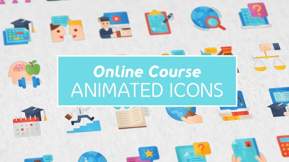 Thumbnail for Online Course Modern Flat Animated Icons