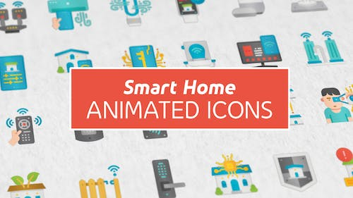 Smart Home Modern Flat Animated Icons